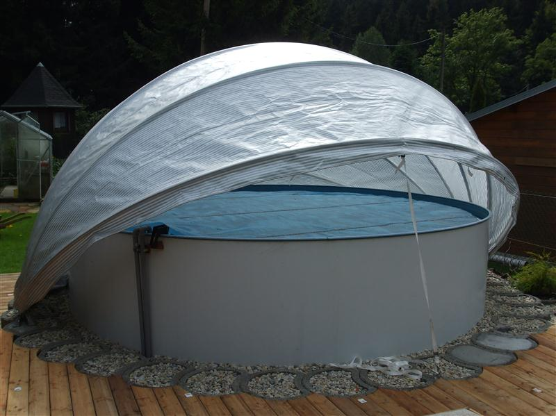 Cabrio dome schwimmbad berdachung winterfest - Poolabdeckung winter ...