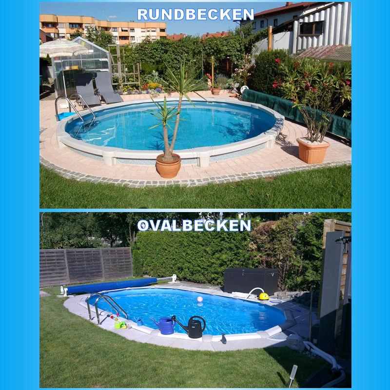 laguna schwimmbecken set oval oder rund 142cm tiefe ebay. Black Bedroom Furniture Sets. Home Design Ideas