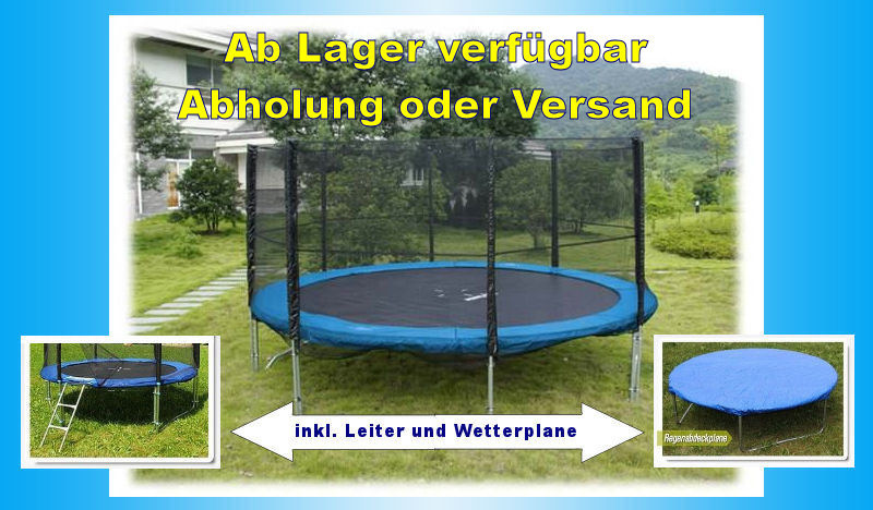 trampolin 305 set mit netz leiter plane in kriens lu kaufen bei. Black Bedroom Furniture Sets. Home Design Ideas