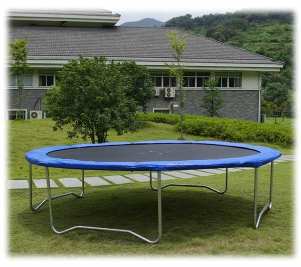 Trampolin 427cm 430cm komplettset gartentrampolin 427cm for Pool aufstellbar