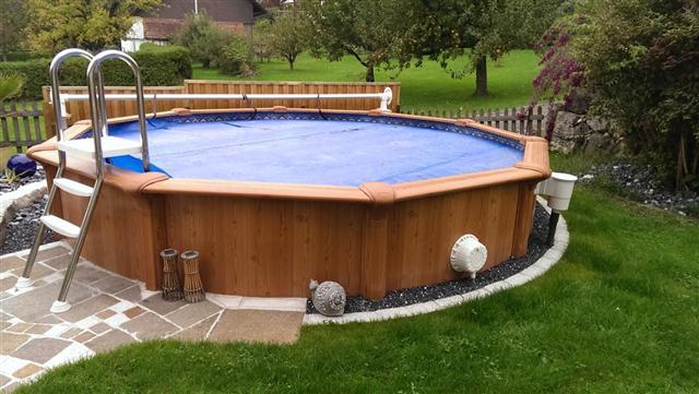 Woodlike rundbecken 630cm 135cm tief in kriens lu for Pool rundbecken